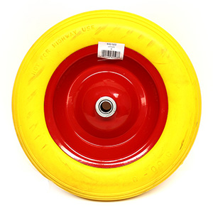 "14"" Flat Free Wheelbarrow Wheel - narrow hub"